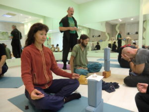 Николай Прокунин Занятие в классе по йогатерапии