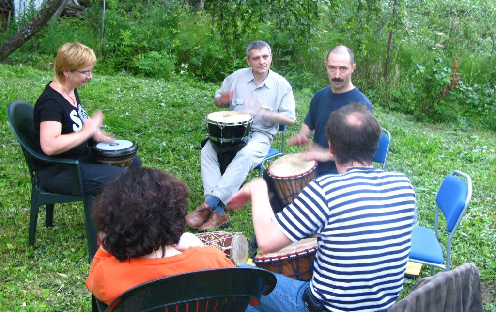 Николай Прокунин класс йога и барабаны